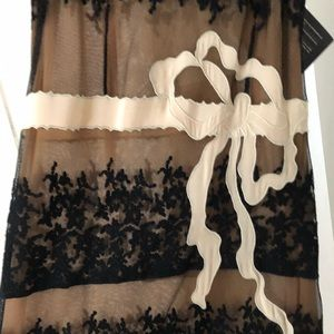 Red Valentino illusion floral lace dress!